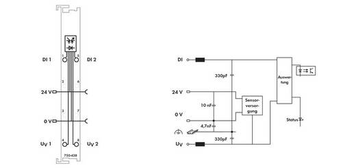 WAGO 750-438 PLC-ingangskaart 24 V/DC 1 stuks