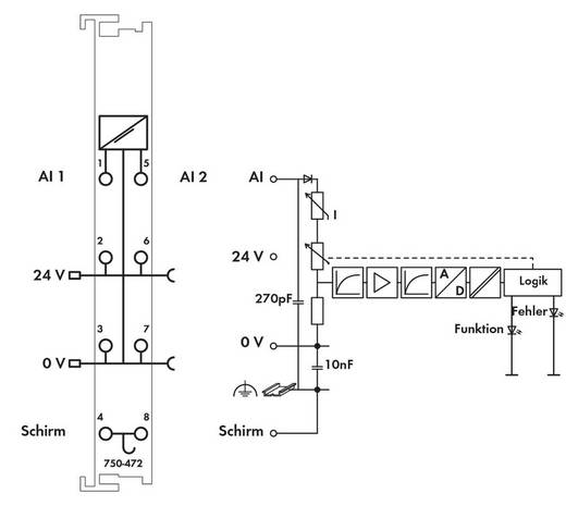 WAGO 750-472 PLC-ingangskaart 24 V/DC