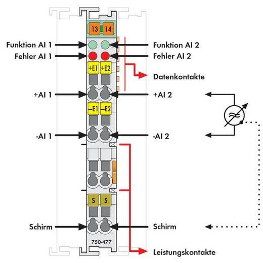 WAGO 750-477 PLC-ingangskaart 24 V/DC