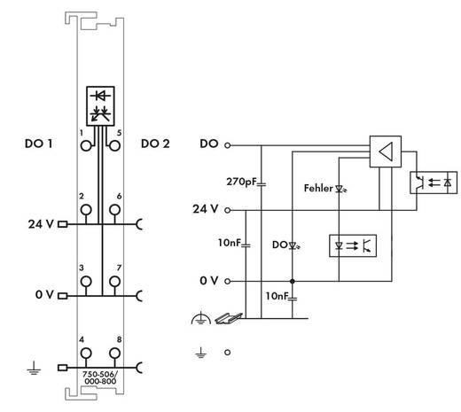 WAGO 750-506/000-800 PLC-uitgangskaart 24 V/DC