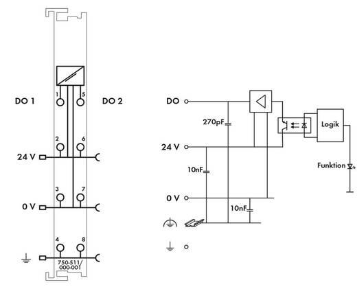 WAGO 750-511/000-001 PLC-uitgangskaart 24 V/DC