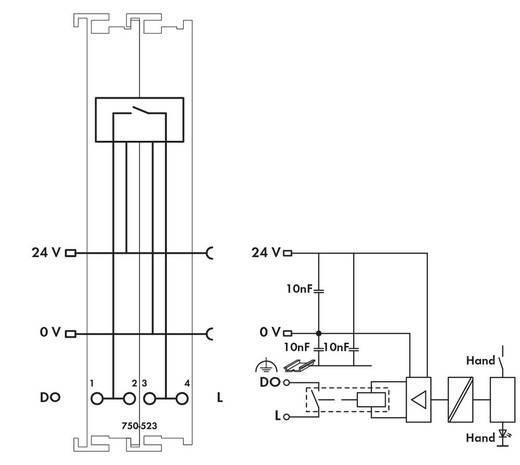 WAGO 750-523 PLC-uitgangskaart 230 V/AC