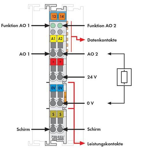 WAGO 750-552/025-000 PLC-uitgangskaart 24 V/DC