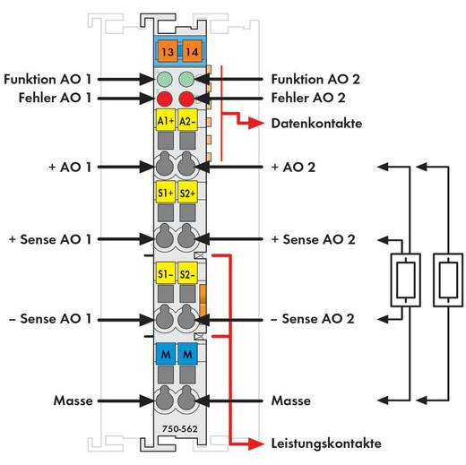 WAGO 750-562 PLC-uitgangskaart 24 V/DC