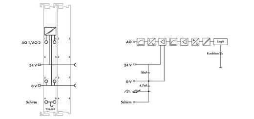 WAGO 750-585 PLC-uitgangskaart 24 V/DC