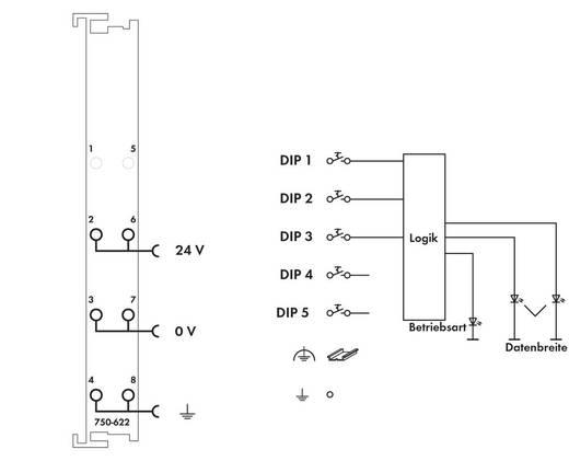 WAGO 750-622 PLC-klem 24 V/DC 1 stuks