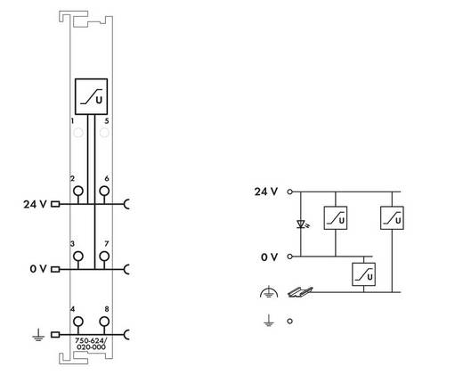WAGO 750-624/020-000 PLC-filtermodule 24 V/DC