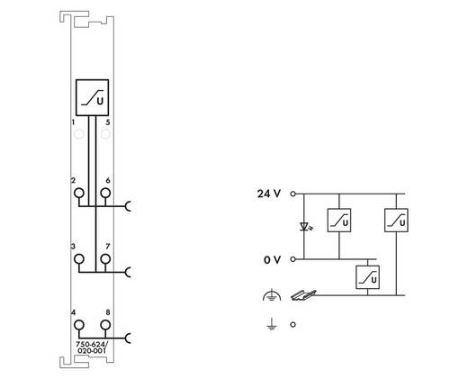 WAGO 750-624/020-001 PLC-filtermodule 24 V/DC 1 stuks