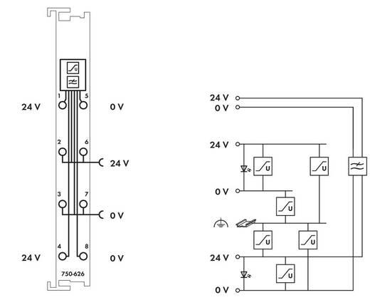 WAGO 750-626 PLC-filtermodule 24 V/DC