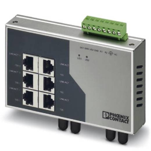 Phoenix Contact FL SWITCH SF 6TX/2FX ST - switch 2832674 Aantal ethernet-poorten 6 Aantal glasvezel-poorten 2