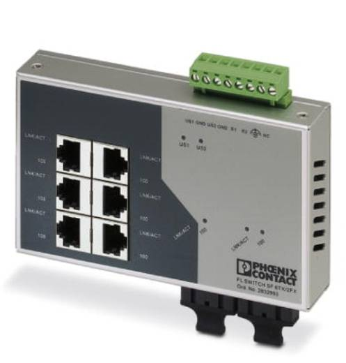 Phoenix Contact FL SWITCH SF 6TX/ 2FX - switch 2832933 Aantal ethernet-poorten 6 Aantal glasvezel-poorten 2