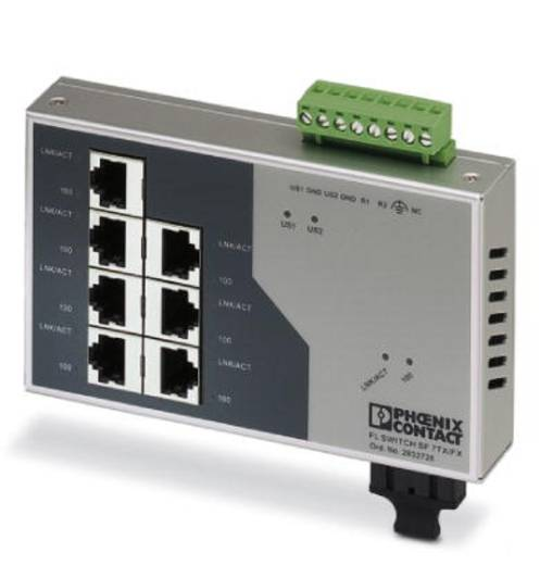 Phoenix Contact FL SWITCH SF 7TX/FX - switch 2832726 Aantal ethernet-poorten 7 Aantal glasvezel-poorten 1
