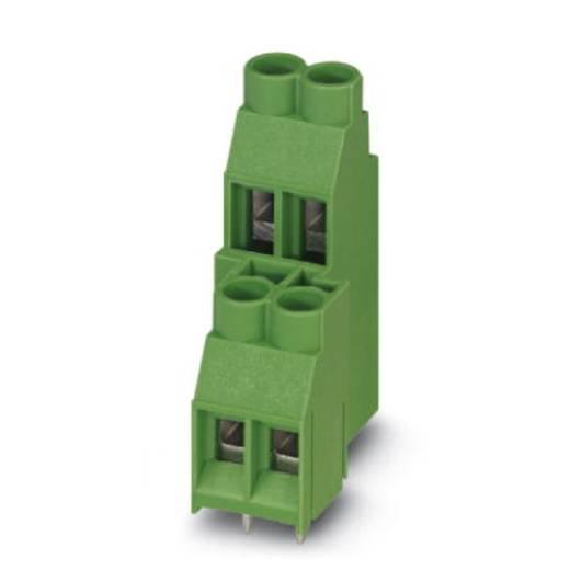 Dubbeldeksklem 6.00 mm² Aantal polen 4 MKKDS 5/ 2-6,35 Phoenix Contact Groen 50 stuks