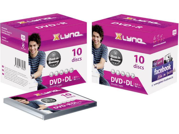 DVD+R DL disc 8.5 GB Xlyne 4J10000 10 stuks Jewelcase