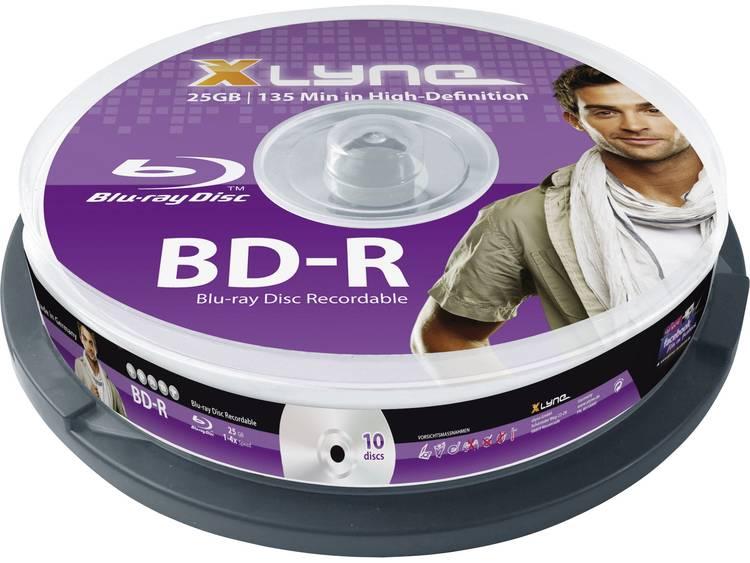 Blu-ray BD-R disc 25 GB Xlyne 8010000 10 stuks Spindel