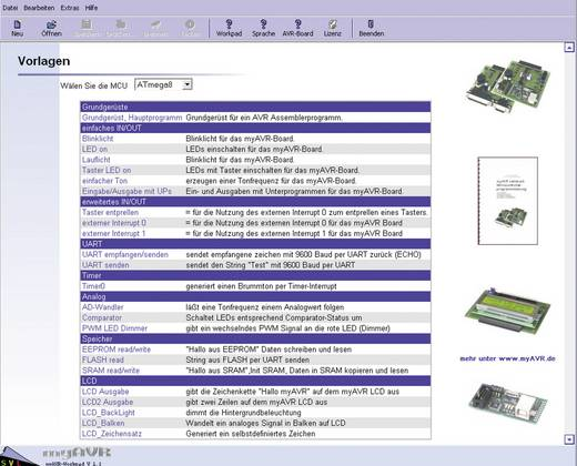 myAVR Workpad PLUS AVR-Programmierung Softwarepakket