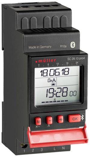 DIN-rail schakelklok Digitaal Müller SC 28.13 pro 230 V/AC 16 A/250 V