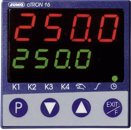 Jumo cTRON16 Temperatuurregelaar PID L, J, U, T, K, E, N, S, R, B, C, D, Pt100, Pt1000, KTY11-6 Relais 3 A, Transistor (l x b x h) 90.5 x 48 x 48 mm