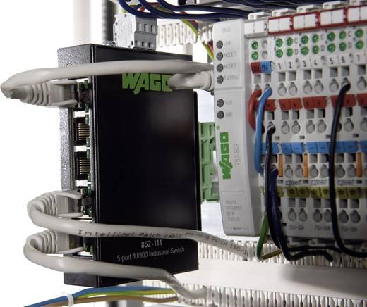 Industriële switch unmanaged WAGO 5-PORT 100BASE-TX INDUSTR.ECO SWITCH Aantal ethernet-poorten 5 LAN-overdrachtsnelheid 100 Mbit/s Voedingsspanning (num) 12 V/DC, 24 V/DC