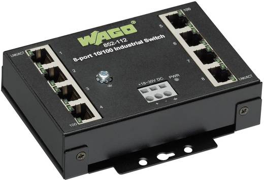 Industriële switch unmanaged WAGO 8-PORT 100BASE-TX INDUSTR.ECO SWITCH Aantal ethernet-poorten 8 LAN-overdrachtsnelheid
