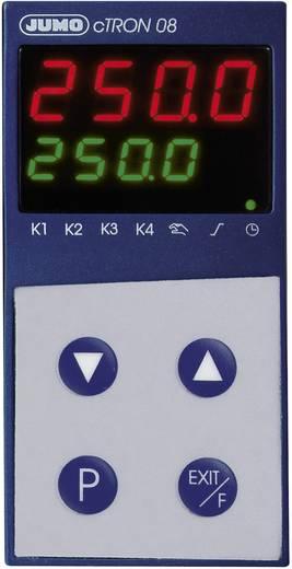 Jumo cTRON08 Temperatuurregelaar PID L, J, U, T, K, E, N, S, R, B, C, D, Pt100, Pt1000, KTY11-6 Relais 3 A, Transistor