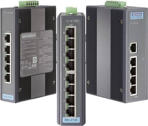 Advantech EKI-2725-BE Switch LAN Aantal uitgangen: 5 x 12 V/DC, 24 V/DC, 48 V/DC