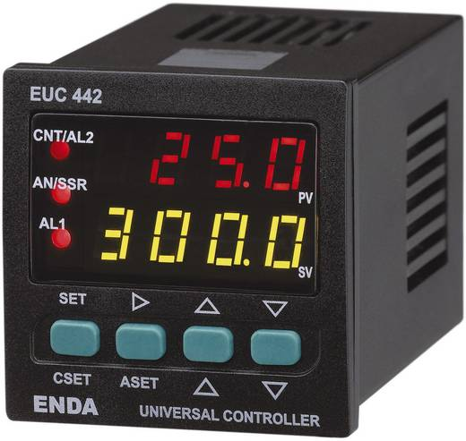 Enda EUC442 Temperatuurregelaar PID J, K, T, S, R, Pt100 -200 tot +1600 °C Relais 2 A, SSR, Analoge stroom (l x b x h) 1