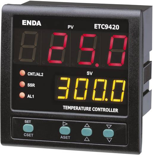 Enda ETC9420 Temperatuurregelaar PID Pt100, J, K, T, S, R Relais 2 A, SSR (l x b x h) 88 x 96 x 96 mm