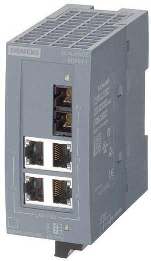 Industriële switch unmanaged Siemens SCALANCE XB004-1G Aantal ethernet-poorten 4 1 LAN-overdrachtsnelheid 10 / 100 / 1000 Mbit/s Voedingsspanning (num) 24 V/DC