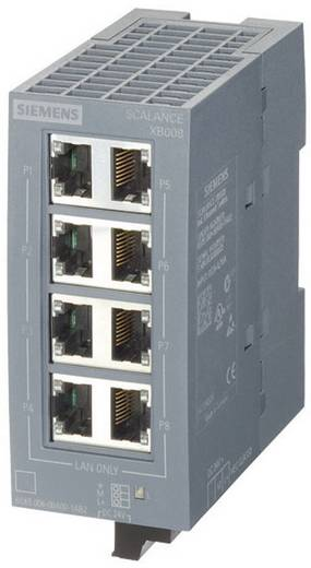 Industriële switch unmanaged Siemens SCALANCE XB008G Aantal ethernet-poorten 8 LAN-overdrachtsnelheid 10 / 100 / 1000 M