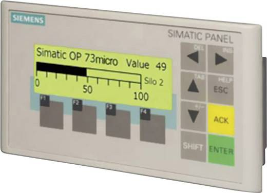 Siemens SIMATIC OP 73micro PLC-display uitbreiding 6AV6640-0BA11-0AX0 160 x 48 pix