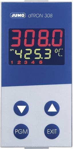 Jumo dTRON 308 (hoch) Temperatuurregelaar PID Pt100, Pt500, Pt1000, KTY11-6, L, J, U, T, K, E, N, S, R, B, C, D -200 tot +2400 °C Relais 3 A, Analoge stroom (l x b x h) 105 x 48 x 96 mm