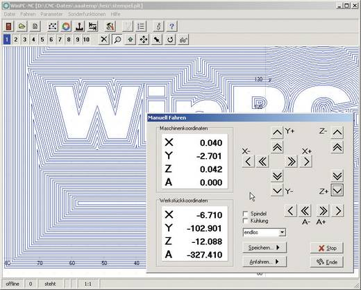 Stappenmotor-Software WinPC-NC Light
