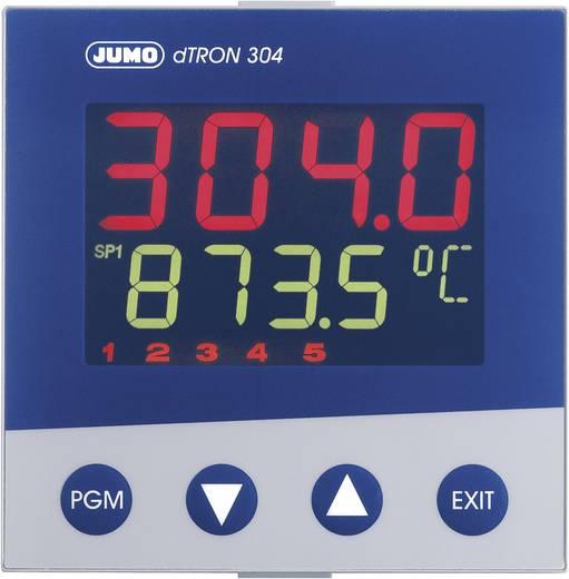 Jumo dTRON 304 Temperatuurregelaar PID Pt100, Pt500, Pt1000, KTY11-6, L, J, U, T, K, E, N, S, R, B, C, D -200 tot +2400 °C Relais 3 A, Analoge stroom (l x b x h) 105 x 96 x 96 mm
