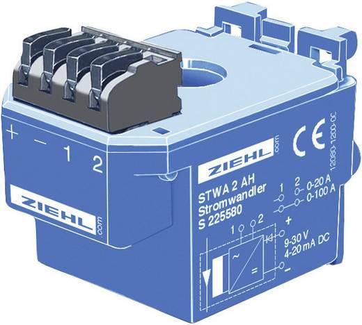 Ziehl Elektronische stroomtransformator 9 - 30 V= Meetingangen 0 - 20/100 A Uitgangen 4 - 20 mA/DC