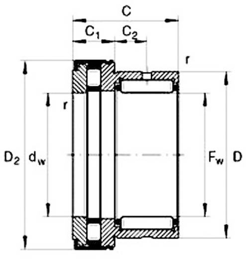 UBC Bearing NKX 60 Z Axiale naaldgroefkogellager NKX-Z DIN 5429 Boordiameter 60 mm Buitendiameter 86.5 mm Toerental (max.) 2750 omw/min