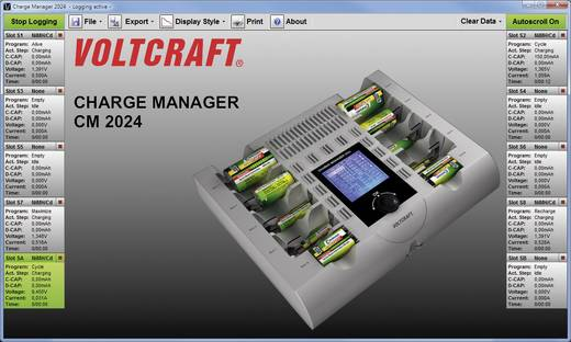 VOLTCRAFT Charge Manager CM2024 - Batterijlader NiCd, NiMH, NiZn AAA (potlood), AA (penlite), C (baby), D (mono), 9 V (b