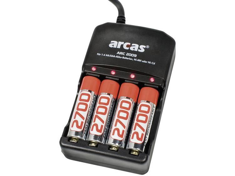 ARC-2009 Batterijlader incl. 4xAA 2700mAh