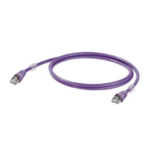 Weidmüller RJ45 Netwerk Aansluitkabel CAT 6A S/FTP 0.20 m Lila UL gecertificeerd