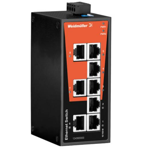 Industriële switch unmanaged Weidmüller IE-SW-BL08-8TX Aantal ethernet-poorten 8