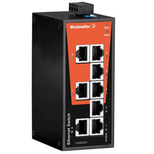 Industriële switch unmanaged Weidmüller IE-SW-BL08T-8TX Aantal ethernet-poorten 8