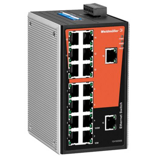 Industriële switch unmanaged Weidmüller IE-SW-VL16T-16TX Aantal ethernet-poorten 16