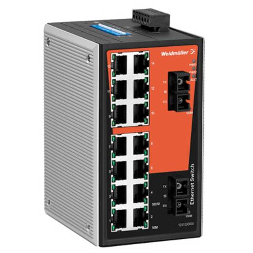 Industriële switch unmanaged Weidmüller IE-SW-VL16-14TX-2SC Aantal ethernet-poorten 14
