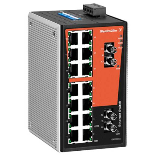 Industriële switch unmanaged Weidmüller IE-SW-VL16-14TX-2ST Aantal ethernet-poorten 14