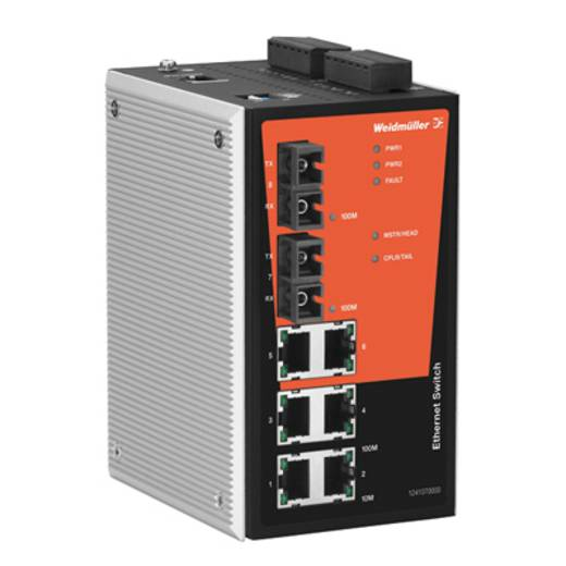 Industriële switch managed Weidmüller IE-SW-PL08M-6TX-2SC Aantal ethernet-poorten 6