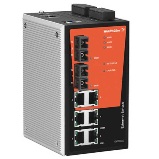 Industriële switch managed Weidmüller IE-SW-PL08M-6TX-2SCS Aantal ethernet-poorten 6