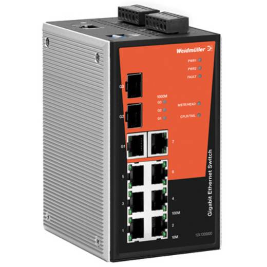 Industriële switch managed Weidmüller IE-SW-PL10MT-1GT-2GS-7TX Aantal ethernet-poorten 7