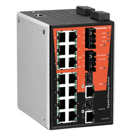 Industriële switch managed Weidmüller IE-SW-PL18MT-2GC14TX2SC Aantal ethernet-poorten 14