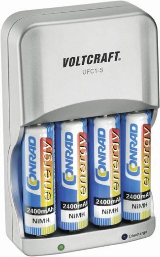 Batterijlader AAA (potlood), AA (penlite) - VOLTCRAFT UFC-1S Incl. oplaadbare batterijen