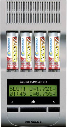 VOLTCRAFT Charge Manager CM410 Batterijlader NiCd, NiMH, NiZn AAA (potlood), AA (penlite)